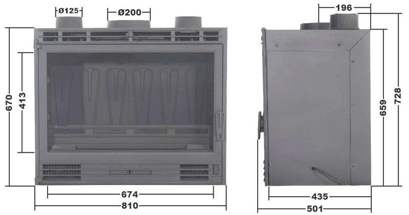 Cheminées diffusion Krbová kazeta B13-2 s ventilátorem - 1/3