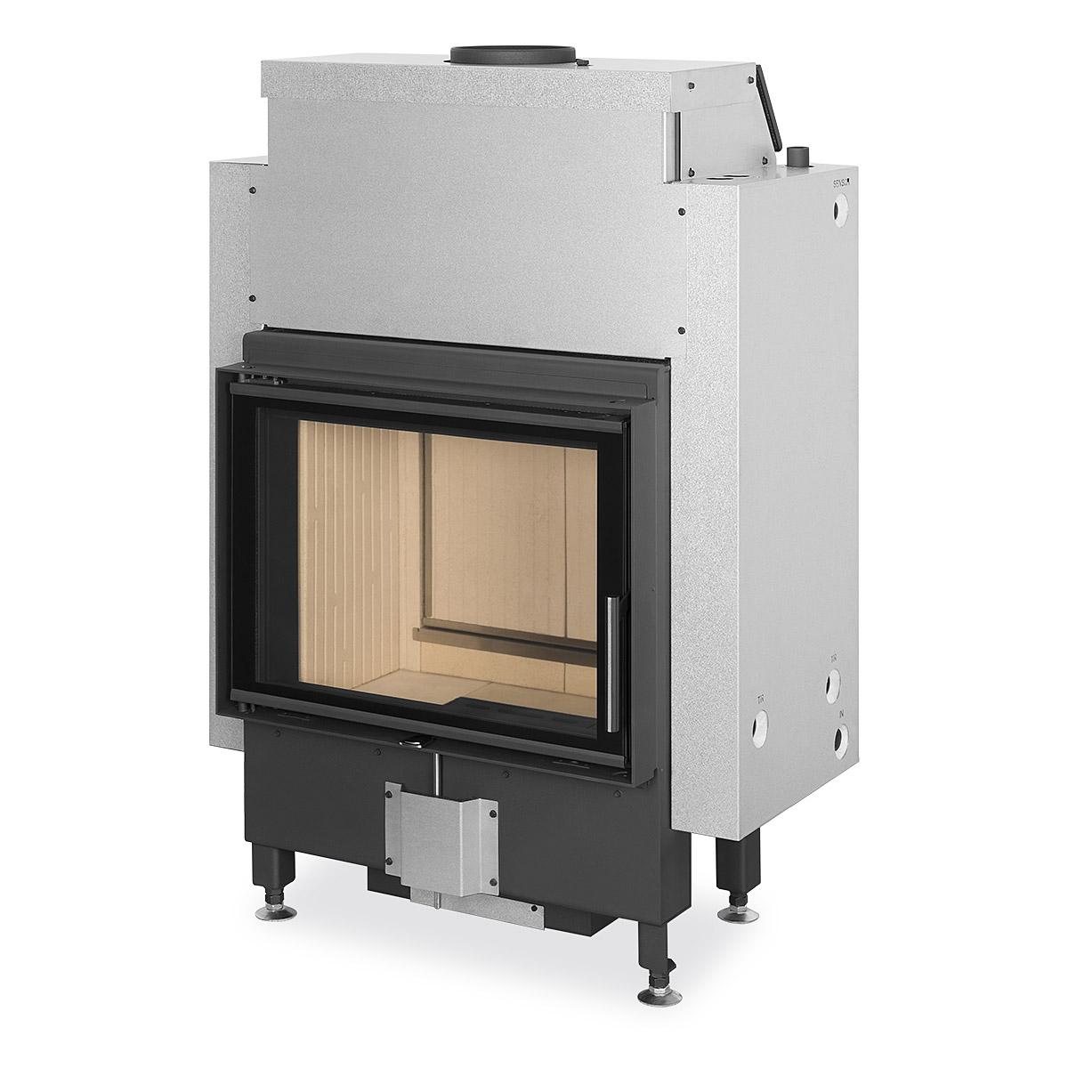 Dynamic DYNAMIC s dvojitým / trojitým prosklením, teplovodním výměníkem a zadním přikládáním